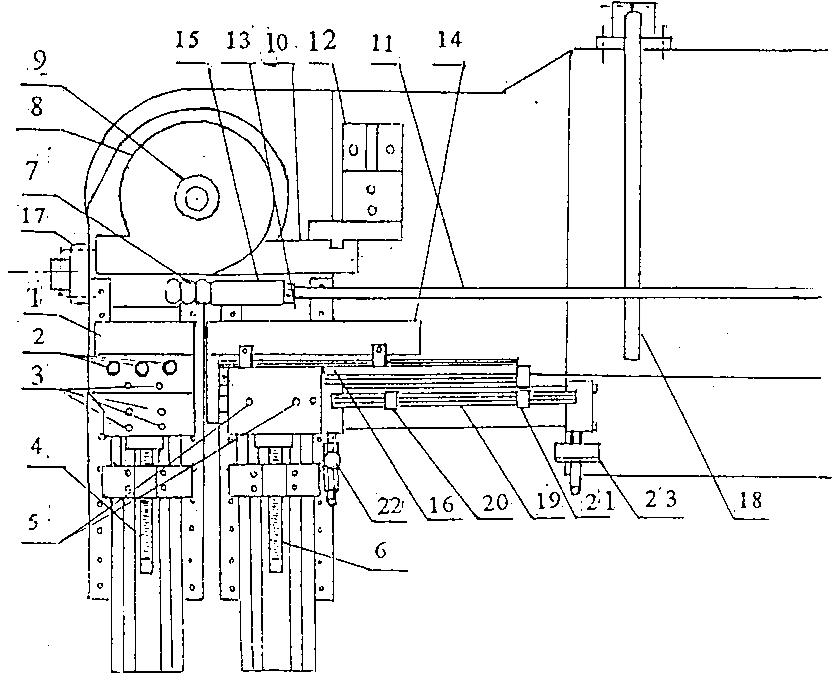 数控弯管机模具安装示意图